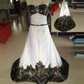 2016 камо свадебные платья реальная картина милая вышивка на линии часовни поезд на спине Большой размер пляж свадебные платья