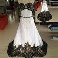 2016 Camo vestidos de casamento Real imagem querida bordados A linha capela trem Lace up voltar Plus Size praia vestidos de noiva