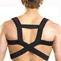 Black high elastic spine brace posture corrector back and shoulder support belt Braces & Supports free shipping