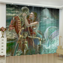mermaid skull curtains for window Dark mermaid skull pirate blinds finished drapes window blackout curtains parlour room blinds nightmare curtains for window dark style butterfly batman blinds finished drapes window blackout curtains parlour room blinds
