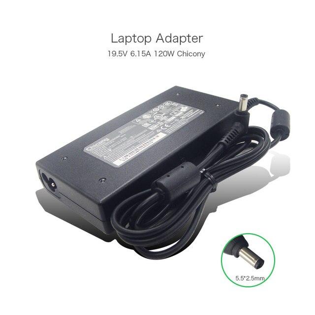 Новый Подлинная Chicony A120A007L A12-120P1A A120A010L AC Адаптер 19.5 В 6.15A 120 Вт Ноутбук Блок Питания для MSI GE60 GE70 игровой ПК