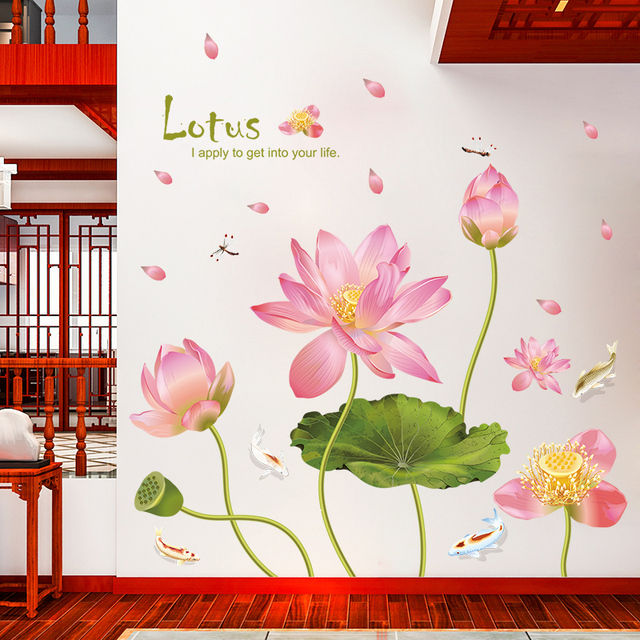 Nene Chinese Lotus Flower Wall Stickers For Your Home House Living