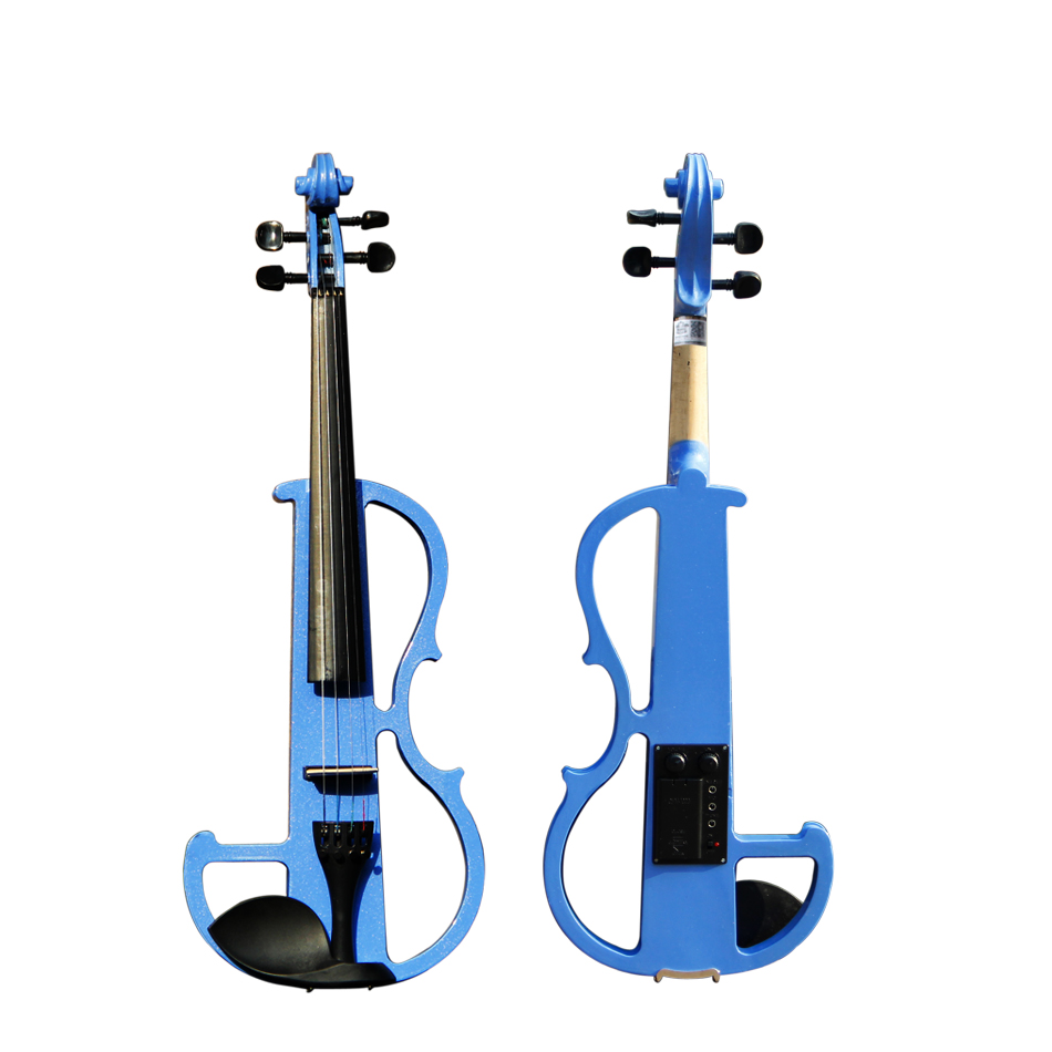 4/4 Violin Classic Blue Electric Violin with Violin Case and Violin Bow Excellent Tone Quality Made in China handmade new solid maple wood brown acoustic violin violino 4 4 electric violin case bow included