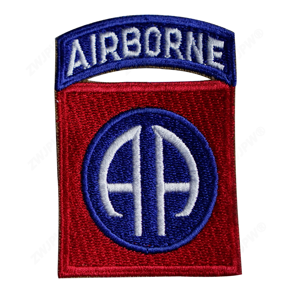 WW2 US ARMY 82 ND AIRBORNE CORPS CANVAS BADGES REPLICA