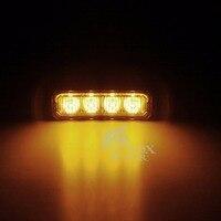 Ámbar Brillante estupendo $ number LED Del Carro Del Coche Van Lado Strobe Luz Intermitente de Advertencia De Precaución de Construcción De Emergencia