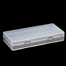 20pcs/lot MasterFire Portable 18650 Battery Case Hard PP Transparent Holder Storage Box for 8 x Batteries with Hook
