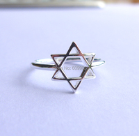 Star Of David Ring In Solid Sterling Silver All Sizes 3 To16