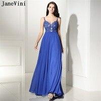 JaneVini шифоновые трапециевидные Длинные свадебные платья с кружевными аппликациями на бретельках длиной до пола, платье для свадебной вечер
