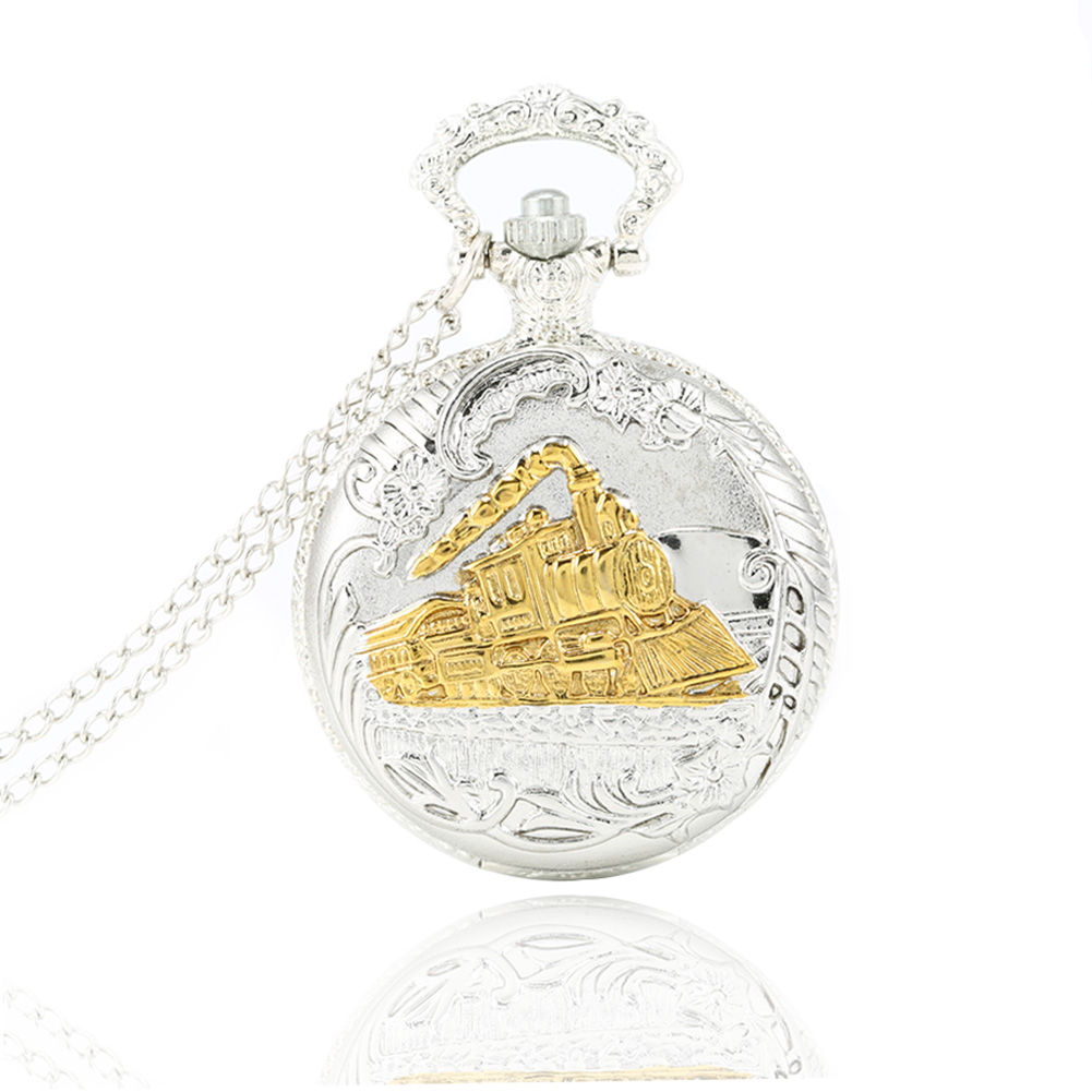 Vintage Charming Train Boat Ship Carved Hollow Steampunk Quartz Pocket Watch Men Women Necklace Pendant Clock Gifts LXH hot steampunk hogwarts school crest badge song image relogio de bolso beautiful pendant men women pocket watch necklace clock