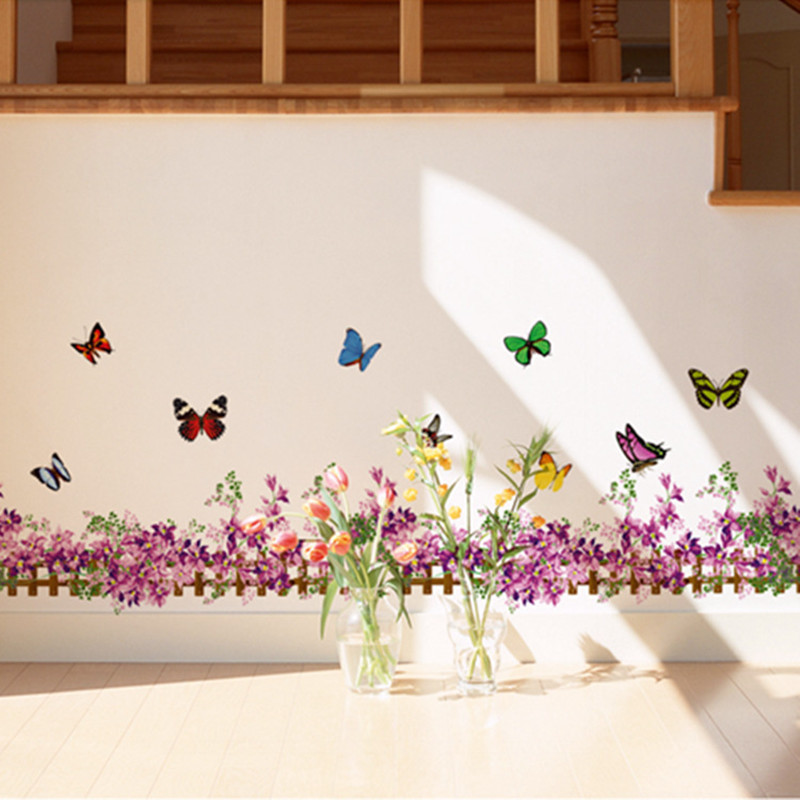 Achetez en Gros papier peint violet papillon en Ligne à des ...