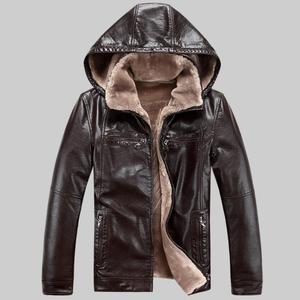 Image 3 - 2019 Yeni Erkek Hakiki Deri Ceket koyun derisi erkek Kapüşonlu Ceket deri kışlık ceketler erkek EMS Ücretsiz Kargo Artı Boyutu M 5XL
