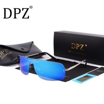 0bc6939b1f 2018 dpz moda polarizada gafas de sol hombres mujeres marca diseñador rays  HD gafas hombres integrado gafas de sol UV400