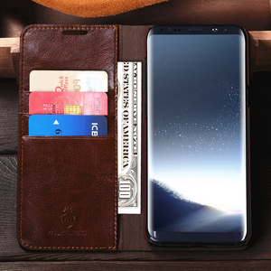 Image 4 - Genuine Real Leather Wallet Card Holder Flip Case Cover For Note 10 + Note 9 Samsung S20 Ultra S20 Plus S10 S10E S9 Plus Cases