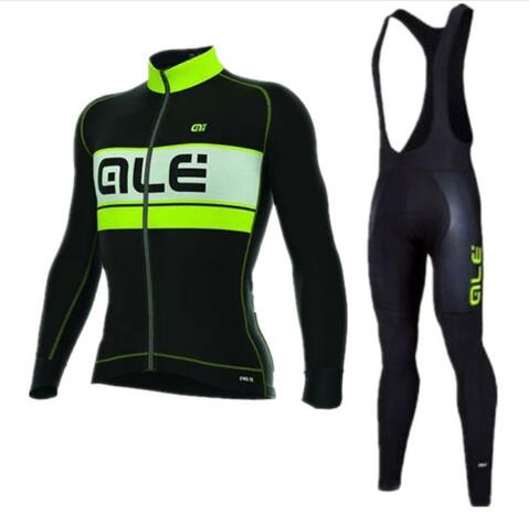ALE Autumn Bike Long Sleeve Riding Clothing Mens Long Sleeve Sweatshirt Set Ropa Maillot Ciclismo with 9D Gel Pad