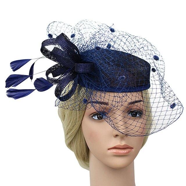 a718e24daaa New Sale Unique Birdcage Veil Flower Pillbox Hat Cocktail Head Pieces hair  accessories headwear for women