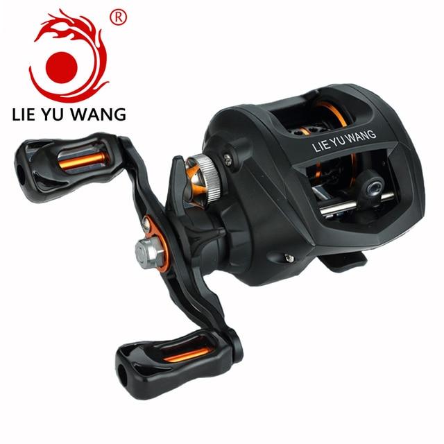 Magnetic Brake System Super Light 195g Baitcasting Reel Fishing Reel LC 11BB 6.3:1 Bait Casting Lure Reel Rod Combo For Fishing