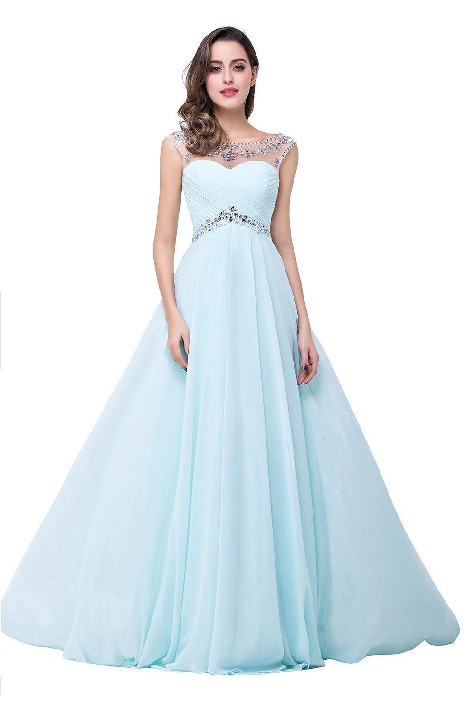 Cheap Royal Blue Bridesmaid Dresses Long 2017 Cap Sleeve Chiffon ...