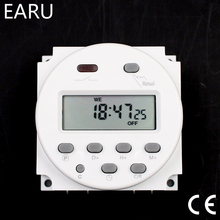 CN101A Timer Switch AC DC 12V 24V 110V 120V 220V 230V 240V Digital LCD Power Week Mini Programmable Time Switch Relay 8A to 16A cheap Switches EARUELETRIC China Miniature