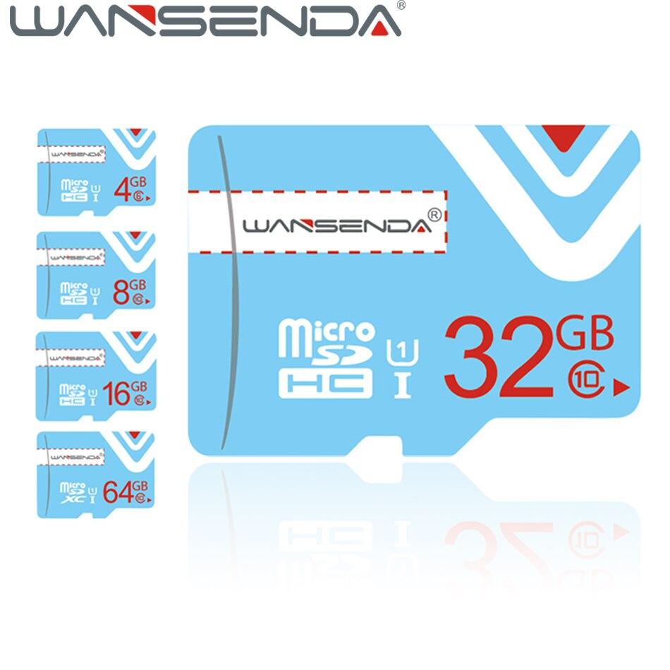 Nouvelle arrivée WANSENDA Micro TF carte 4 GB C6 8 GB 16 GB 32 GB 64 GB C10 pour téléphones portables tablet caméra carte mémoire livraison gratuite