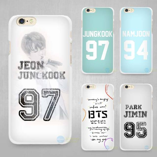 huge selection of 45000 d8ade US $1.7 43% OFF Bangtan BTS Number Hard White Cell Phone Case Cover for  Apple iPhone 4 4s 5 5C SE 5s 6 6s 7 8 Plus X-in Half-wrapped Case from ...