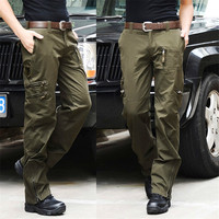 Airborne Jeans Casual Cotton Breathable Multi Pocket Military Army Camouflage Cargo Pants Trousers for Men Pantalon Hombre Pants