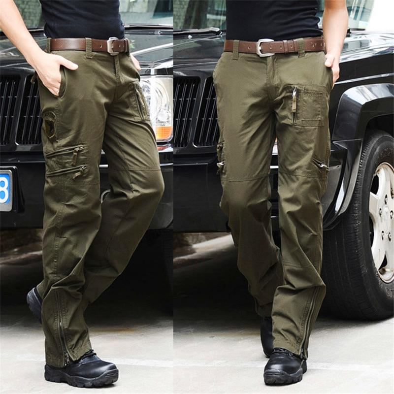 Hombres Pantalones Pantalon Camuflaje Para Transpirable gris Hombre verde Bolsillo De Negro Jeans Militar Casual Algodón El Multi Aire multiple Ejército Militar vP6AqO