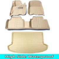 SUNNY FOX car floor mats made for Toyota Highlander Land Cruiser 200 5D full cover car styling rugs carpet case liners (2007-)