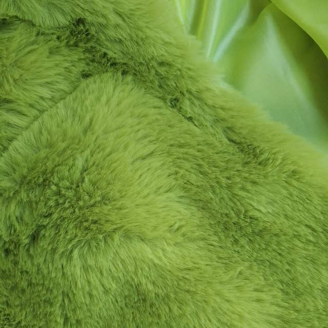 BOOFEENAA Fashion Lime Green Short Faux Fur Coat Winter Neon Fluorescent Warm Cardigan Cropped Jacket Fluffy Teddy Coats C48AH36