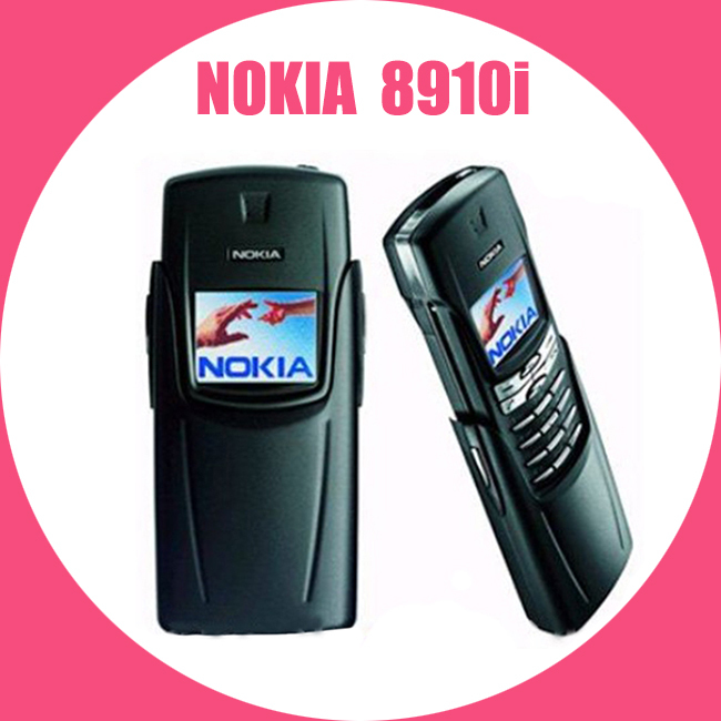 100% Original Refurbished NOKIA Titanium 8910i Mobile Phone GSM DualBand Unlocked 8910i Cellphone Titanium Repaitned Housing