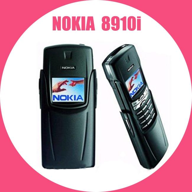 100% Originale Ristrutturato NOKIA Titanium 8910i Cellulare GSM DualBand Sbloccato 8910i Cellulare Titanio Repaitned Housing