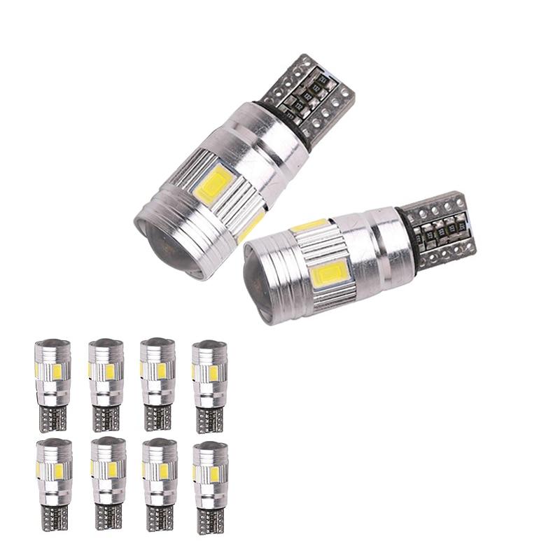 2pcs T10 W5W 5630 SMD White Canbus No Error LED Lamp LED Car Bulbs Interior Lights Car Light Source Parking