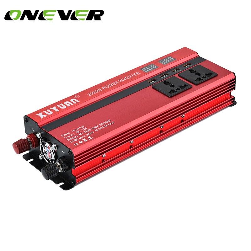 Onever 5000W Car Inverter DC 12V to AC 220V Sine Wave Solar Inverter Converter Voltage Converter