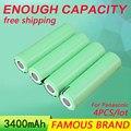 Golooloo para panasonic 4 pcs/lot baterias de 3.7 v 3400 mah da bateria recarregável 18650 ncr18650b atacado seguro made in japan