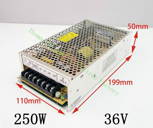 DIANQI 250W 36V 6.9A Single Output Switching power supply for LED Strip light AC to DC 250w 36v mini size  unit   ms-250-36 400w 36v 11a single output switching power supply for cctv camera led strip light ac to dc smps