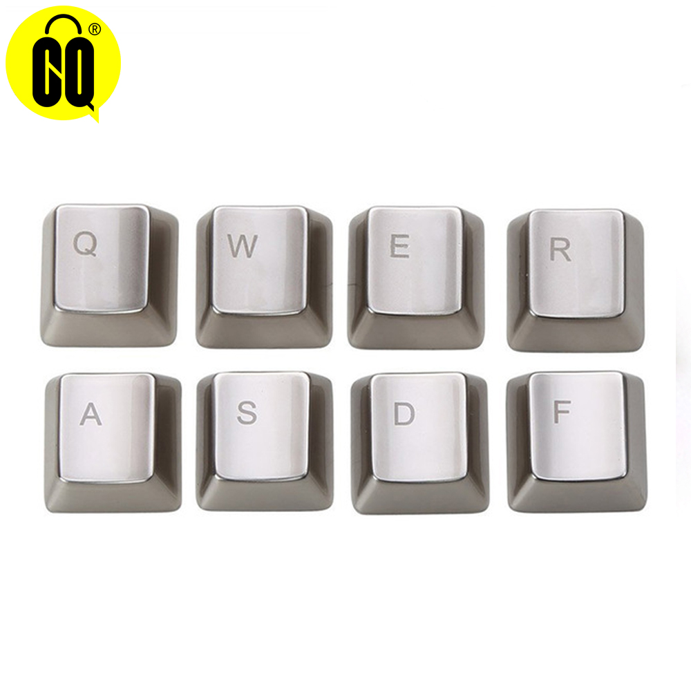 Zinc Alloy Key Cap For Mechanical Keyboard MX Axis Silver/Golden Metal Keycaps Keypress WASD QWERASDF ARROW 37key