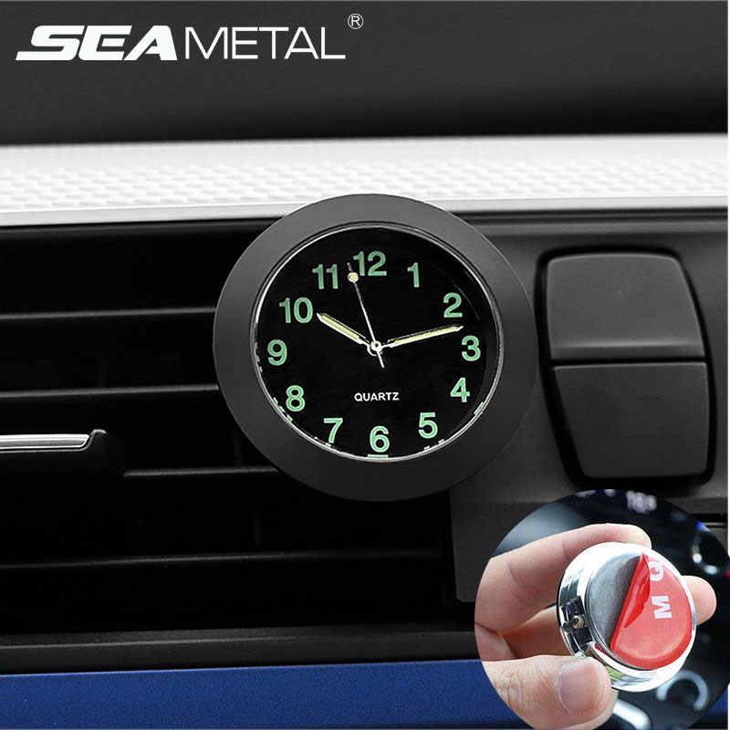 Car Styling Clock Pointer Luminous Watch Clock Quartz Clocks Decorative Digital Clock For Car Universal Automobile Accessories