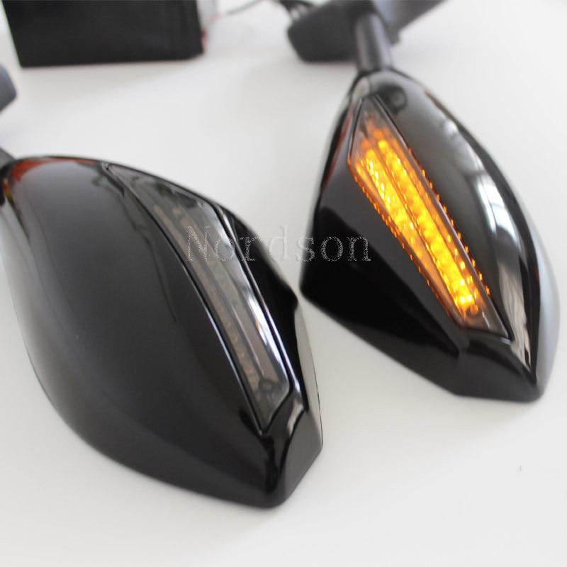 Turn Signal Light Blinker Carbon Fiber Style Racing Side Rear View Mirror for   Honda CBR 600 F4i 929 954 Rr F1 F2 Hurricane Указатель поворота