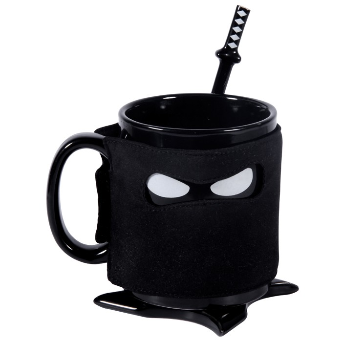 Creative Ninja Coffee Mug Ninja Mask ceramics Drinkware Ceramic Pottery Coffee Milk Tea mugs with Holiday