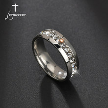 Letdiffery limpar zircônia cúbica anéis de casamento para mulher de aço inoxidável nunca desaparecer jewery acessórios requintados anéis
