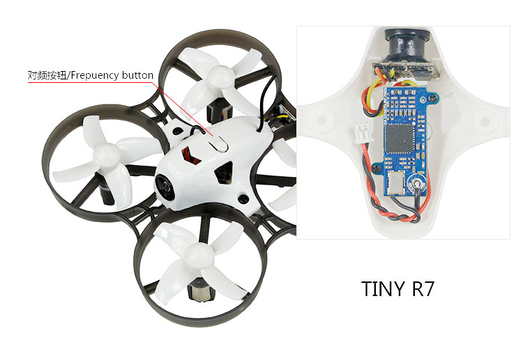 LDARC Q25G2H+199C Combo 5.8G 25mW 16CH FPV VTX & 800TVL 150 NTSC Mini Camera & Canopy for DIY Tiny R7 Whoop Inductrix Quadcopter rcmoy uav115 brushless micro fpv racing quadcopter drone f3 flight controll 800tvl vtx 10a esc tiny whoop blade inductrix