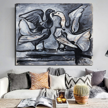 Pablo Picasso Two Doves Canvas Painting Prints Living Room Home Decoration Modern Wall Art Oil Painting Posters Pictures Artwork pablo picasso woman canvas painting prints living room home decor artwork modern wall art oil painting poster accessories art hd