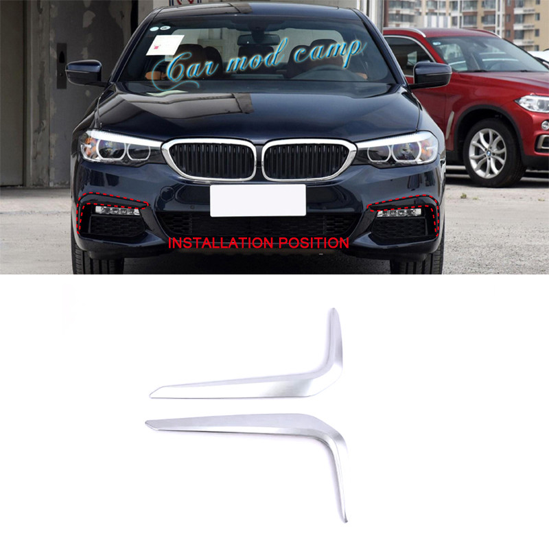 For BMW 5 SERIES G30 2017 2018 ABS Front Fog Lamp Light Eyebrows Cover Decoration Trim