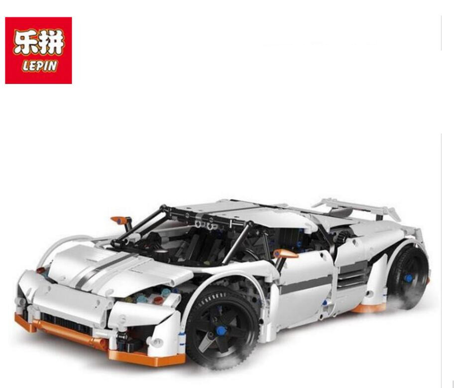 Lepin Technic Series 20052 1950pcs The Predator Supercar Model Building Blocks set Bricks Education Toys For Children 2811 Gift lepin 20031 technic the jet racing aircraft 42066 building blocks model toys for children compatible with lego gift set kids