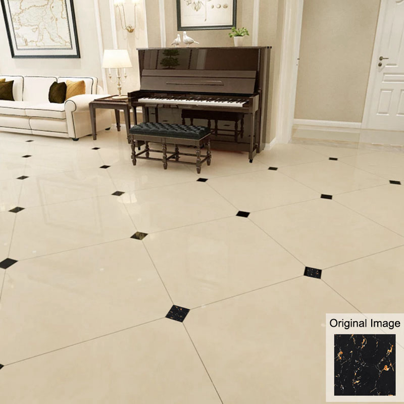 Self Adhesive Floor Tile Stickers Kitchen Wall Tile Stickers Bathroom Tiles Stickers Waterproof