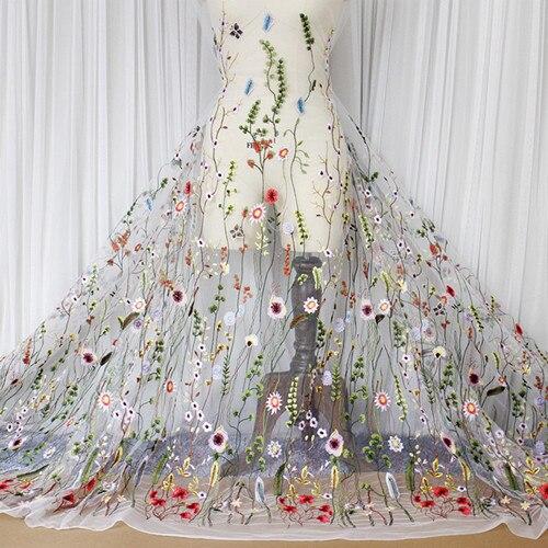 8183c27d6fd Шитье одежды и ткань чистая пряжа 3D вышивка шифон цветок кружево ткань  сетки материал DIY платье костюмы интимные аксессуары купить на AliExpress