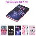 Tab 2016 a6 7.0 case para samsung galaxy tab a 7.0 t280 t285 sm-t280 case capa tablet moda pintado flip funda de couro Shell