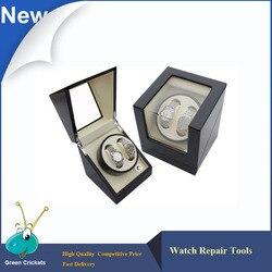 Wysoki połysk 2 + 0 Ultra cichy silnik drewniane automatyczna nakręcarka zegarków  zegarki mechaniczne do przechowywania pudełko nawijacza