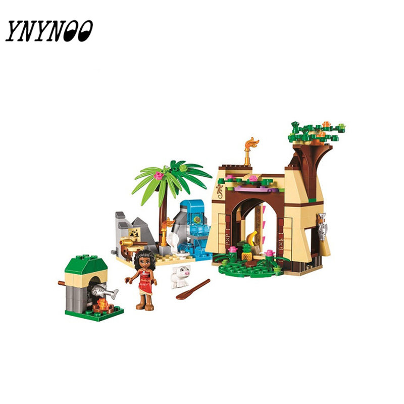 YNYNOO 221Pcs Moanas Ocean Voyage Princess Moana Girls Set Models Building Blocks Toys for girls gift 10662