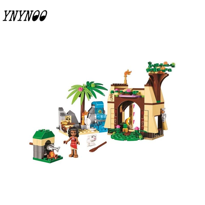 YNYNOO 221Pcs Moanas Ocean Voyage Princess Moana Girls Set Models Building Blocks Toys f ...