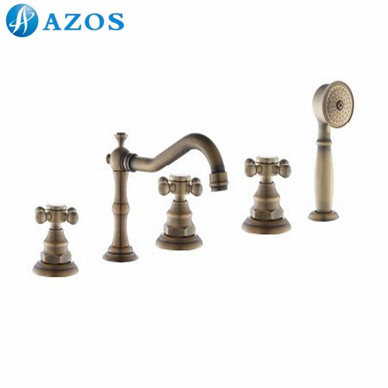 Bathtub Shower Faucets Antique Brass Brass Bathroom Suana 5pc Sets Sets Showerhead
